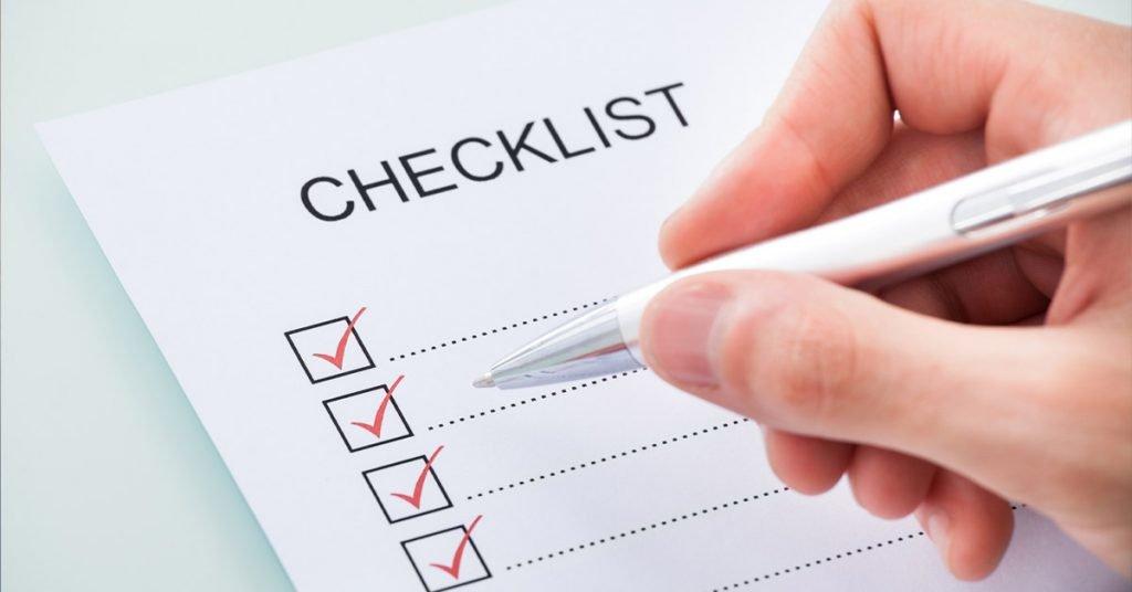 Checklist para mala de viagem